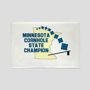 Minnesota Cornhole State Cham Rectangle Magnet