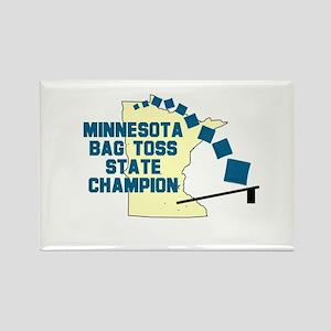 Minnesota Bag Toss State Cham Rectangle Magnet