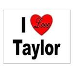 I Love Taylor Small Poster