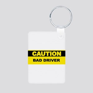 caution-baddriver Keychains