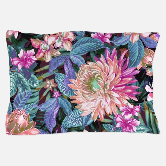 Exotic Floral Pillow Case