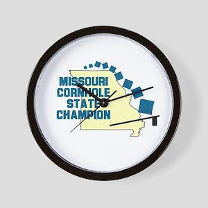 Missouri Cornhole State Champ Wall Clock