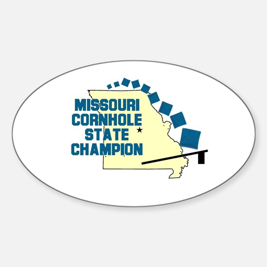 Missouri Cornhole State Champ Oval Decal
