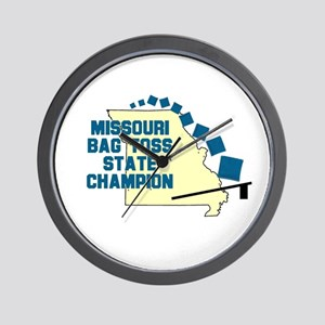 Missouri Bag Toss State Champ Wall Clock