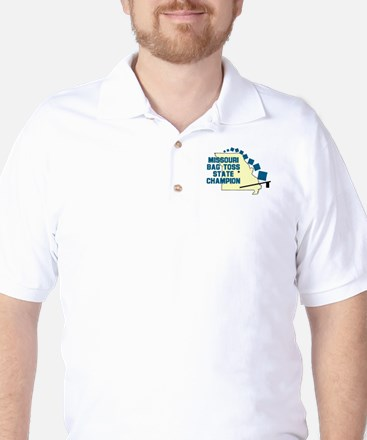 Missouri Bag Toss State Champ Golf Shirt