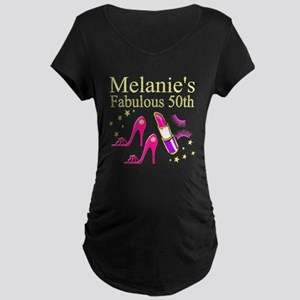50TH DIVA Maternity Dark T-Shirt