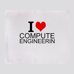 I Love Computer Engineering Throw Blanket