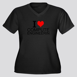 I Love Computer Engineering Plus Size T-Shirt