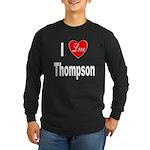 I Love Thompson (Front) Long Sleeve Dark T-Shirt