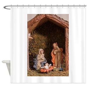 Nativity Scenes Shower Curtains