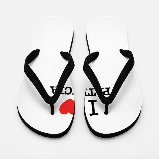 I Love PATRICIA Flip Flops