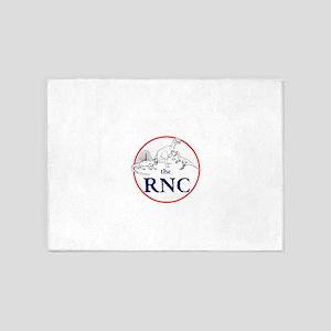 the RNC, dinosaurs 5'x7'Area Rug