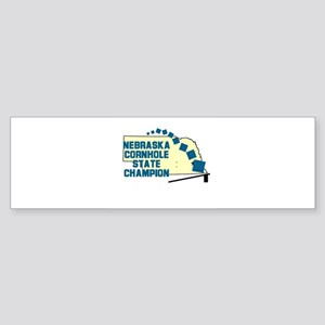 Nebraska Cornhole State Champ Bumper Sticker