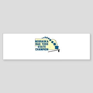 Nebraska Bag Toss Bumper Sticker