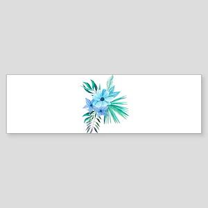 Watercolor Tropical Bouquet 10 Bumper Sticker