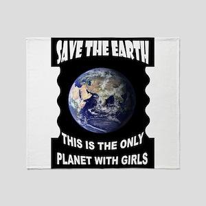 SAVE EARTH Throw Blanket