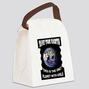 SAVE EARTH Canvas Lunch Bag