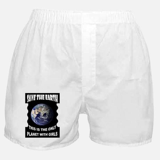 SAVE EARTH Boxer Shorts