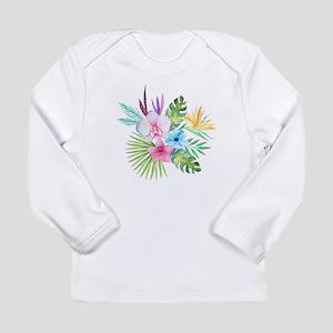 Watercolor Tropical Bouquet 3 Long Sleeve T-Shirt