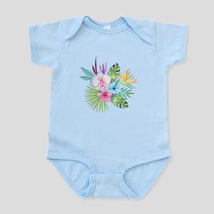 Watercolor Tropical Bouquet 3 Body Suit