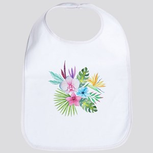 Watercolor Tropical Bouquet 3 Bib