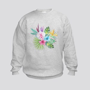 Watercolor Tropical Bouquet 3 Kids Sweatshirt