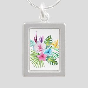 Watercolor Tropical Bouquet 3 Necklaces