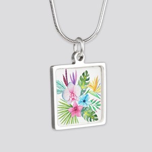 Watercolor Tropical Bouquet 3 Necklaces