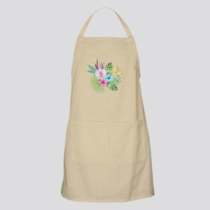Watercolor Tropical Bouquet 3 Apron