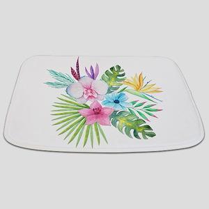 Watercolor Tropical Bouquet 3 Bathmat