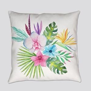 Watercolor Tropical Bouquet 3 Everyday Pillow