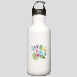 Watercolor Tropical Bo Stainless Water Bottle 1.0L