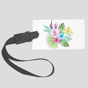 Watercolor Tropical Bouquet 3 Large Luggage Tag