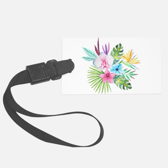 Watercolor Tropical Bouquet 3 Luggage Tag