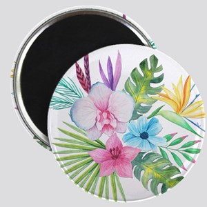 Watercolor Tropical Bouquet 3 Magnets