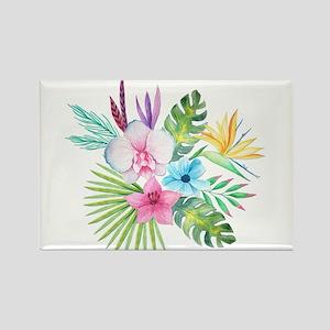Watercolor Tropical Bouquet 3 Magnets