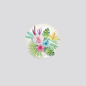 Watercolor Tropical Bouquet 3 Mini Button
