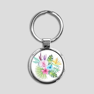 Watercolor Tropical Bouquet 3 Keychains