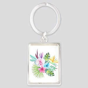 Watercolor Tropical Bouquet 3 Keychains