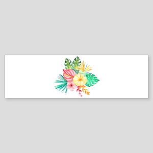Watercolor Tropical Bouquet 6 Bumper Sticker