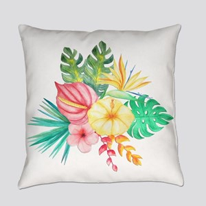Watercolor Tropical Bouquet 6 Everyday Pillow