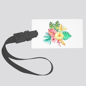 Watercolor Tropical Bouquet 6 Large Luggage Tag