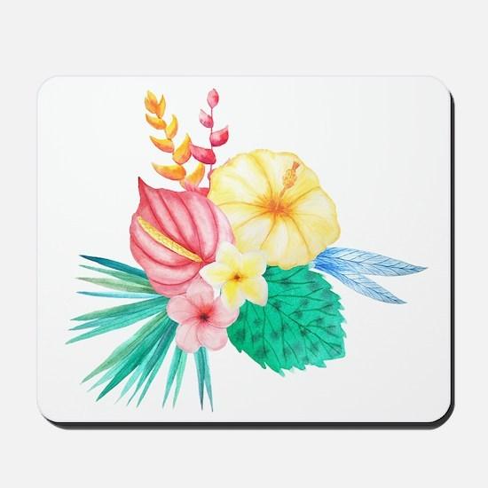 Watercolor Tropical Bouquet 2 Mousepad