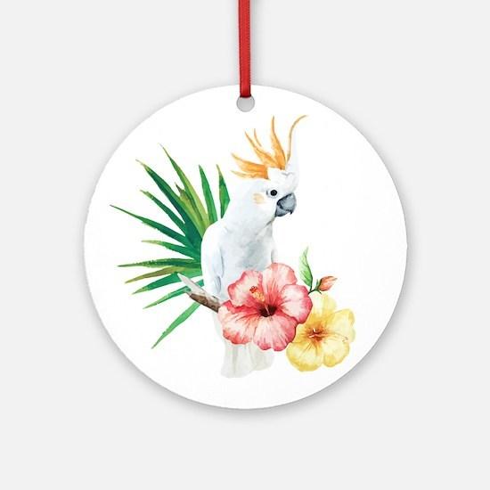 Tropical Cockatoo Round Ornament