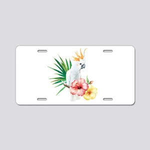 Tropical Cockatoo Aluminum License Plate