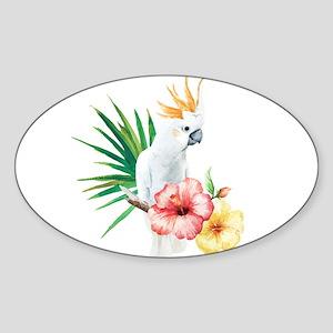 Tropical Cockatoo Sticker