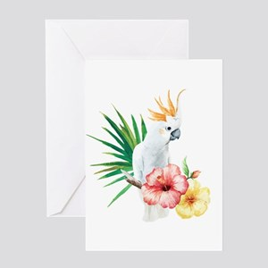 Tropical Cockatoo Greeting Cards