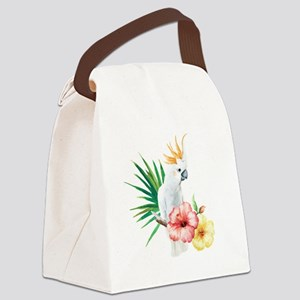 Tropical Cockatoo Canvas Lunch Bag