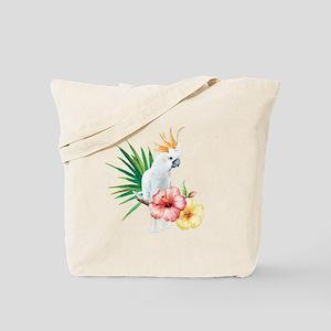 Tropical Cockatoo Tote Bag