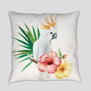 Tropical Cockatoo Everyday Pillow